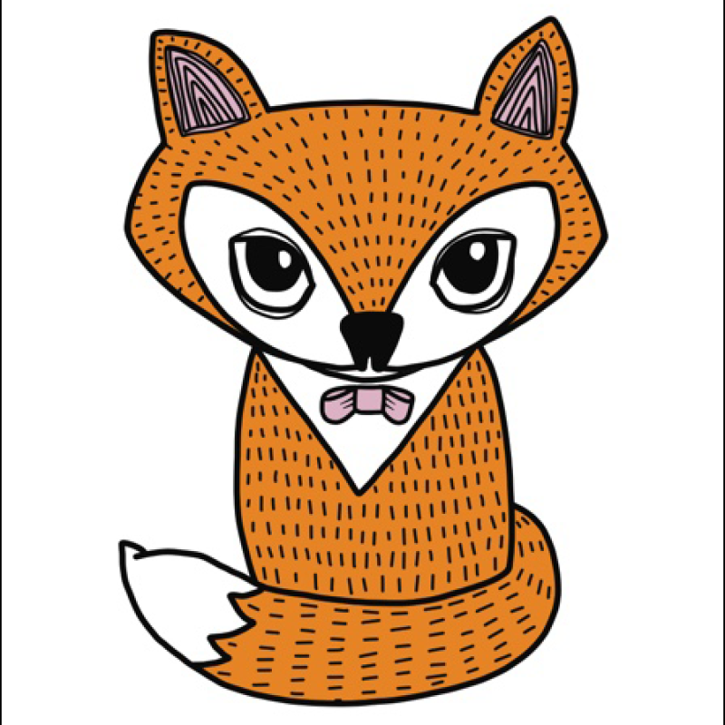 Little Blue Stories - Fox Front A4