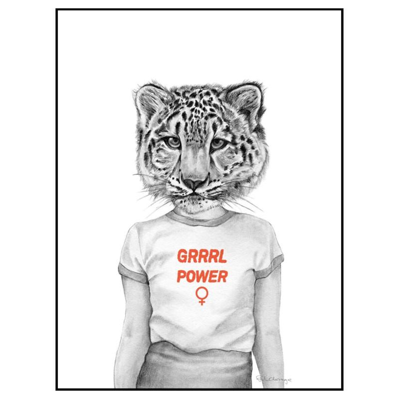 Frida Clerhage - Poster Grrrl Power A5