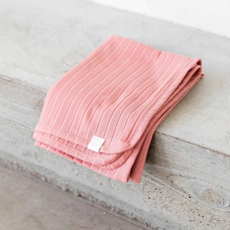 I Dig Denim - Bowie blanket organic pink