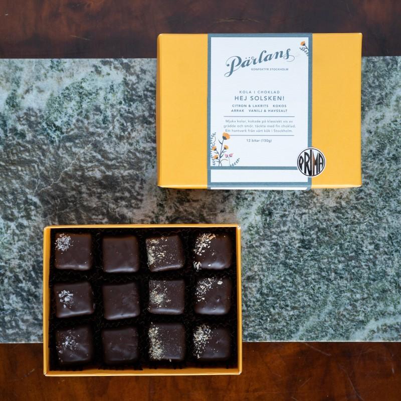 Pärlans Konfektyr - Kola i choklad 12 st Hej Solsken