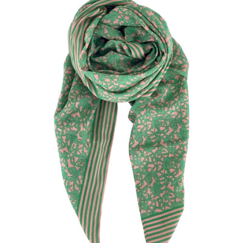 Black Colour - JASMINE scarf apple