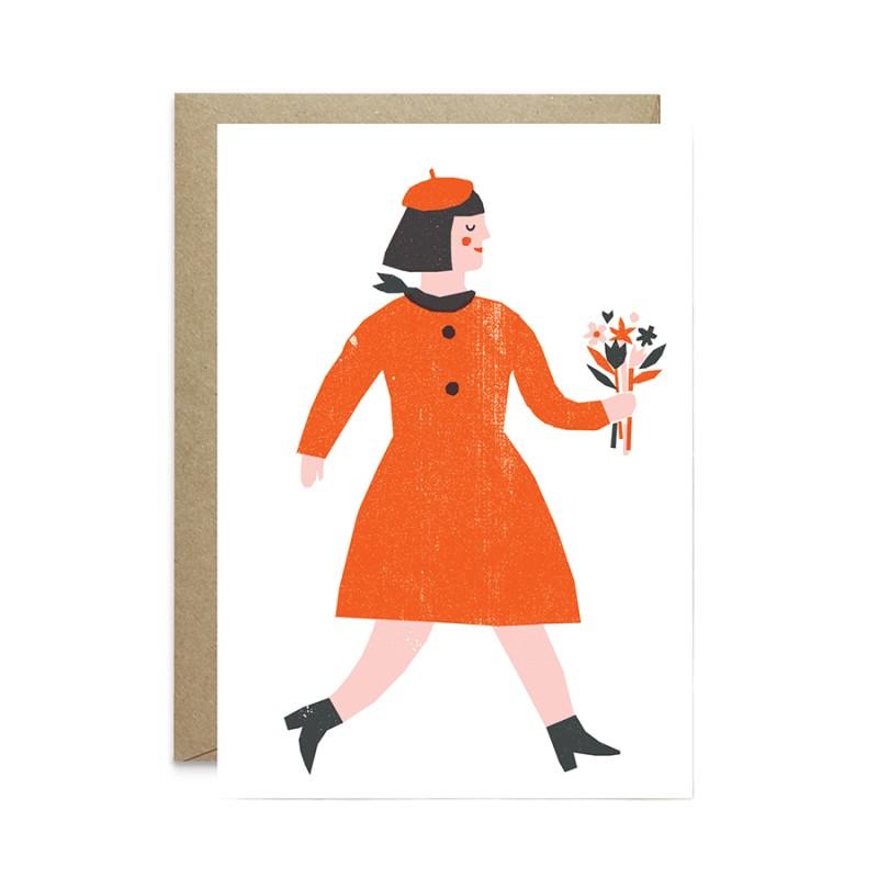 The Printed Peanut - Vykort - Kvinna