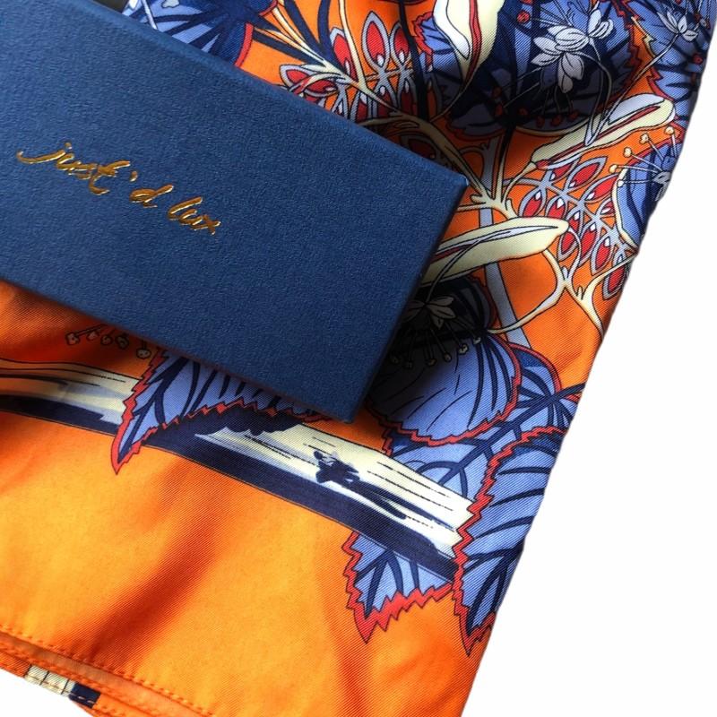 Just d lux - Satinscarf orange/blue