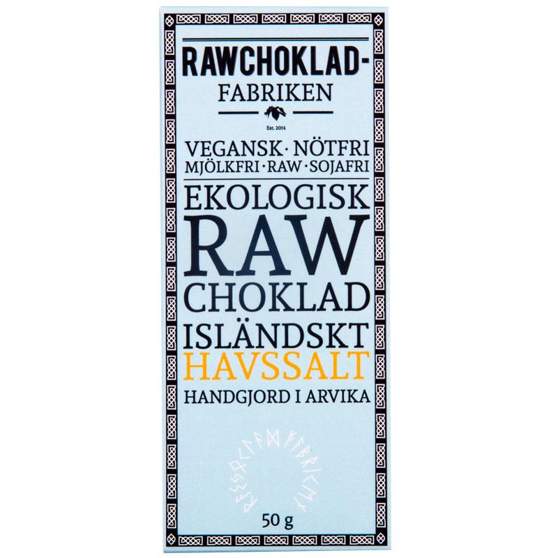 Rawchokladfabriken - Rawchoklad Isländskt Havssalt 73%