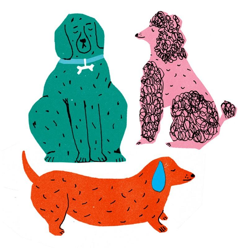The Printed Peanut - Stickers Hund