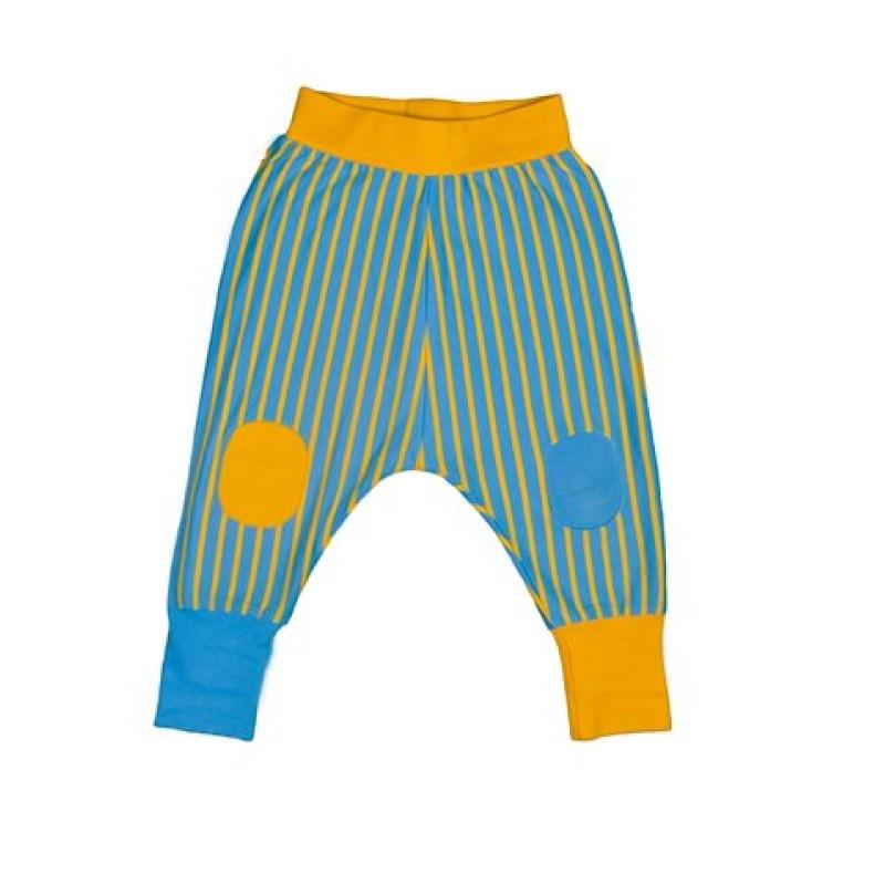 Moromini - Gul/blå baggy byxor