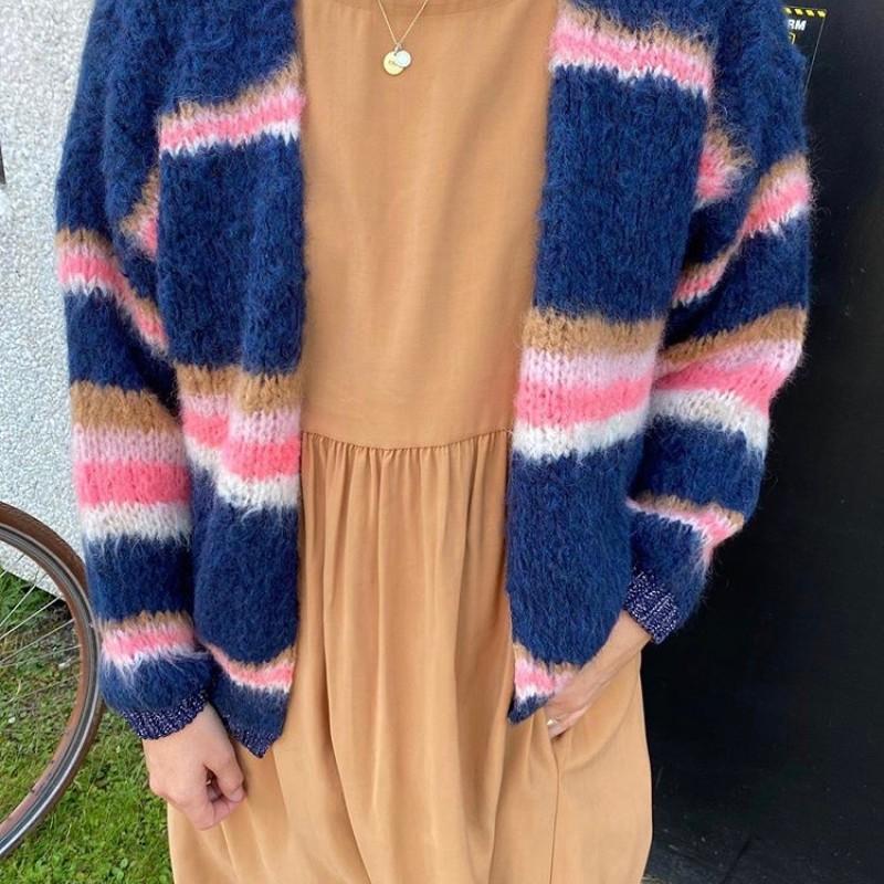 Black Colour - FÖRBOKA Tanita Cardigan Blue/Pink