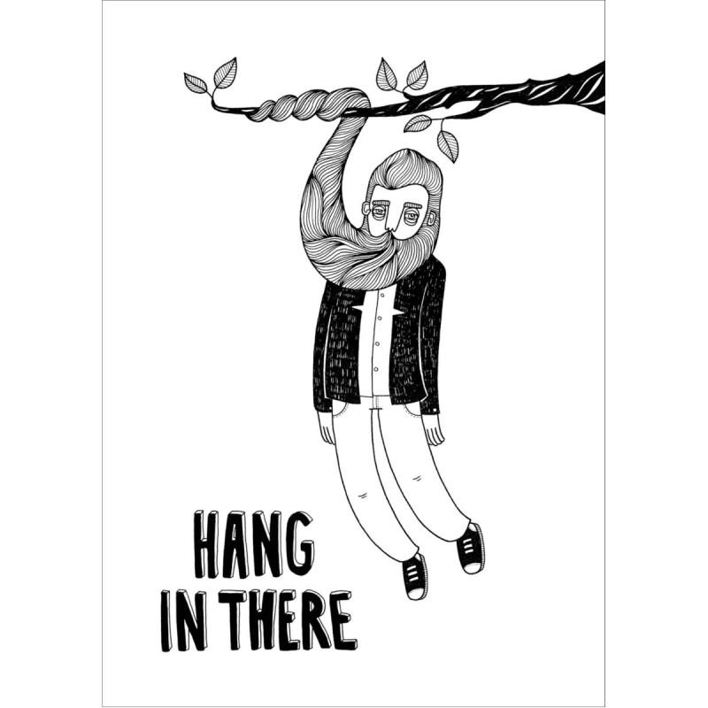 BahKadisch - Vykort - Hang in there