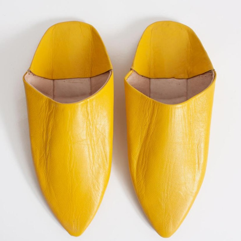 Bohemia Design - Moroccan Classic Pointed Babouche Slippers, Sunflower