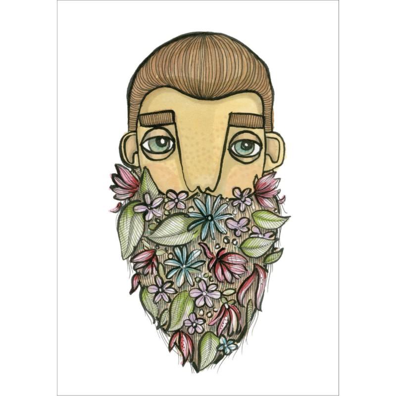 BahKadisch - Vykort - Blommigt skägg
