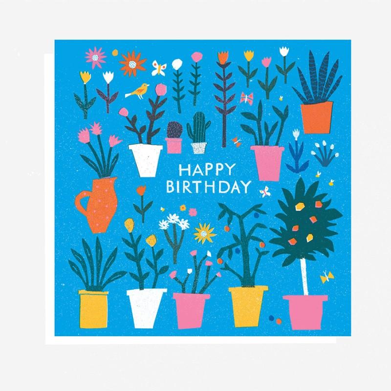 The Printed Peanut - Vykort - Happy Birthday