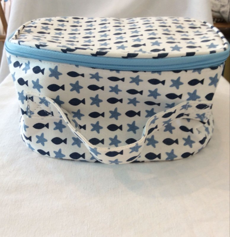 Fish and stars large round wash bag