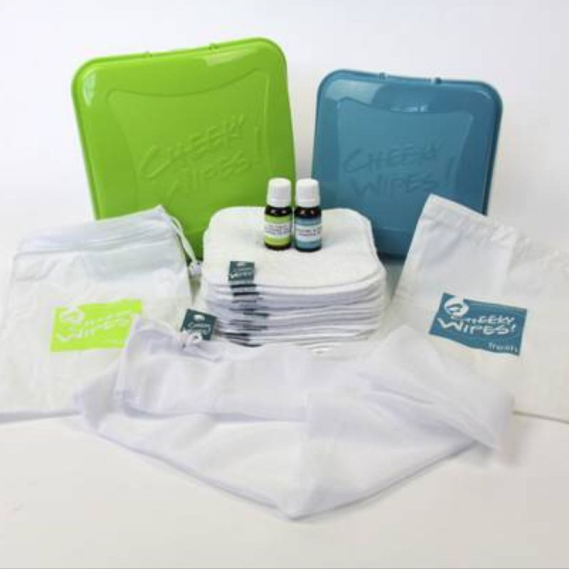 Cheeky Wipes - all in one baby wipes kit - cotton white