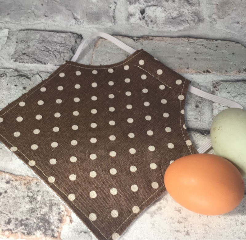 Brown Spotty Chicken Saddle