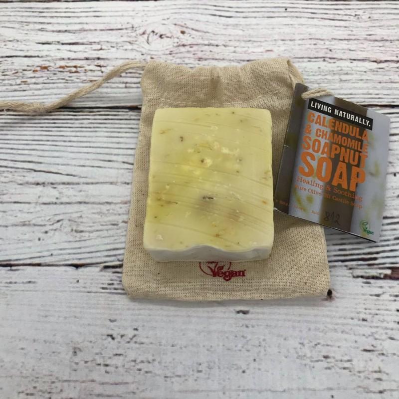 Calendula & Chamomile Castile soap nut soap