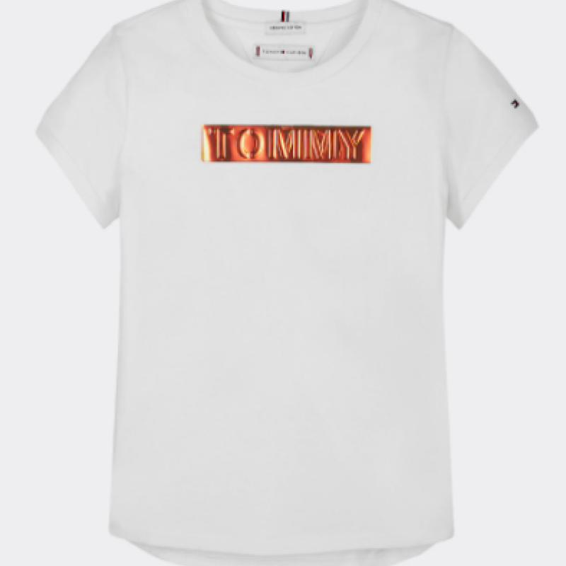 Tommy Hilfiger Metallic logo Hvid T-shirt