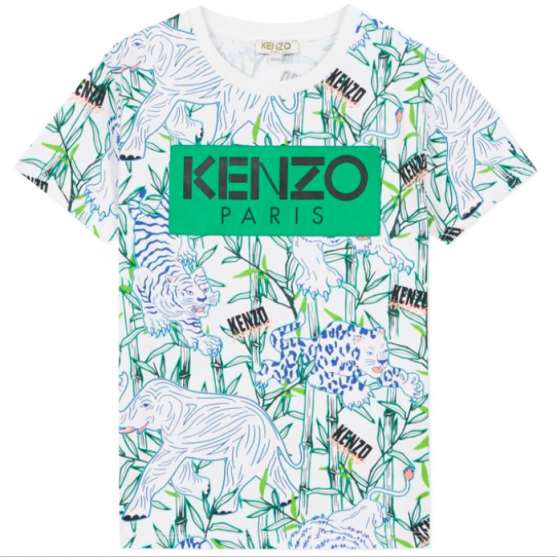 Kenzo Optic White Disco Jungle T-shirt