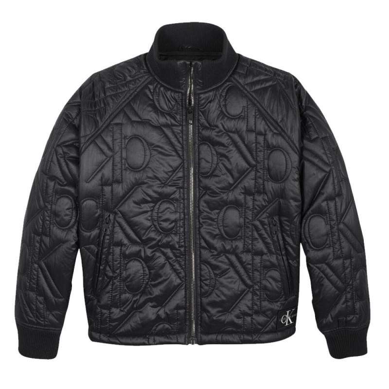 Calvin Klein monogram quiltet bomber jakke