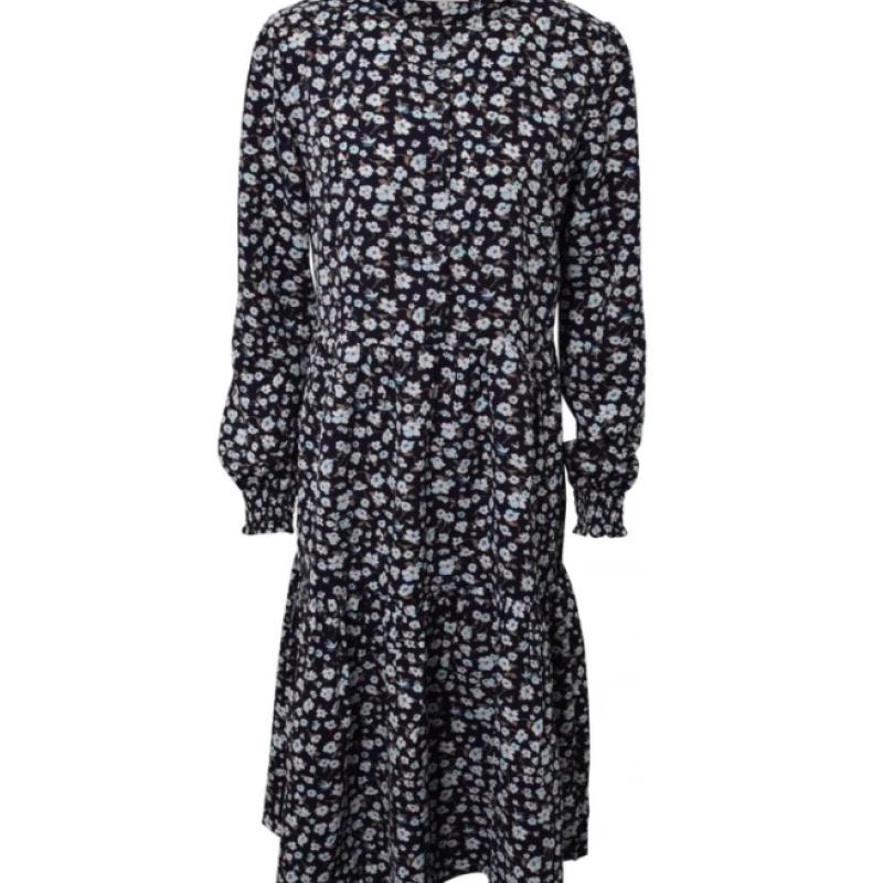 Hound Long ruffle kjole Blomsterprint