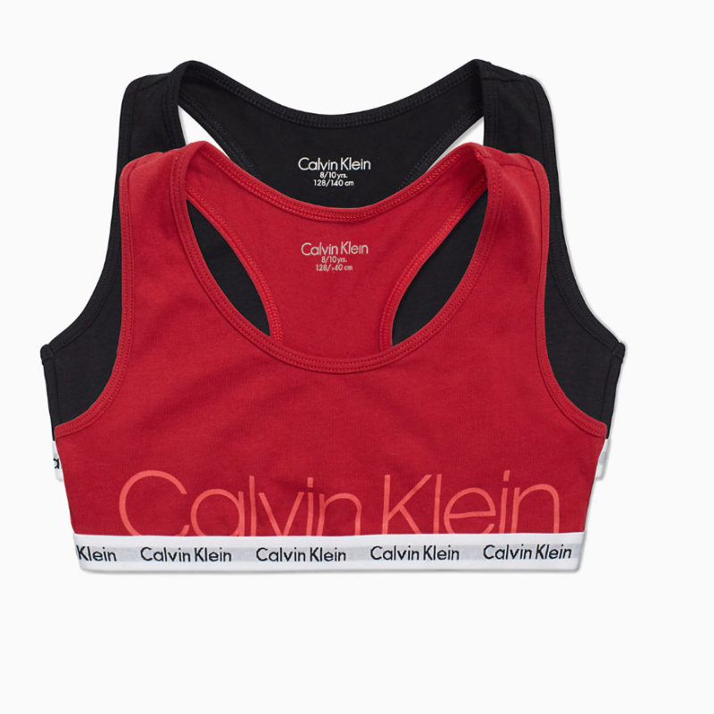 Calvin Klein 2 Pack Girls Bralettes