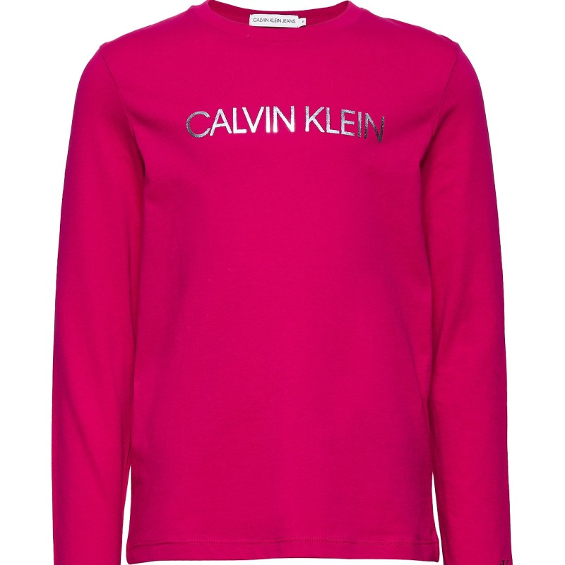 Calvin Klein langærmet pink bluse