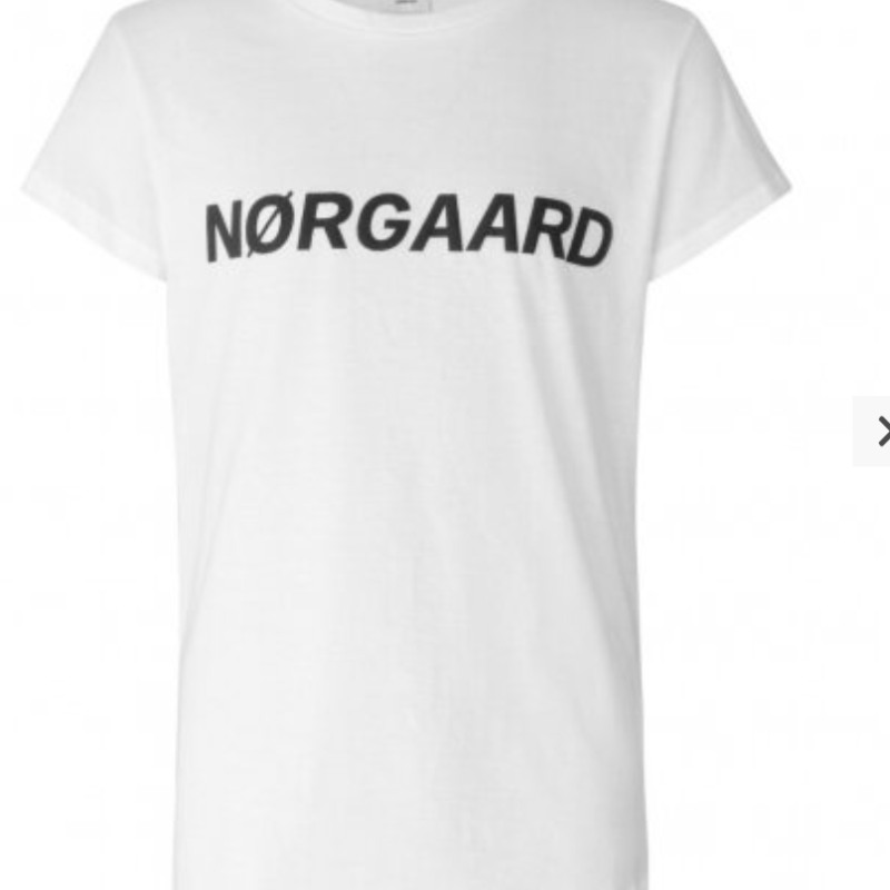 Mads Nørgaard TUVINA T-SHIRT HVID/LOGO