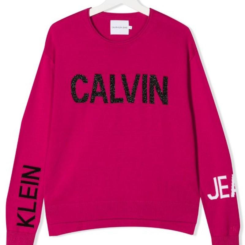 Calvin Klein pink logo strik