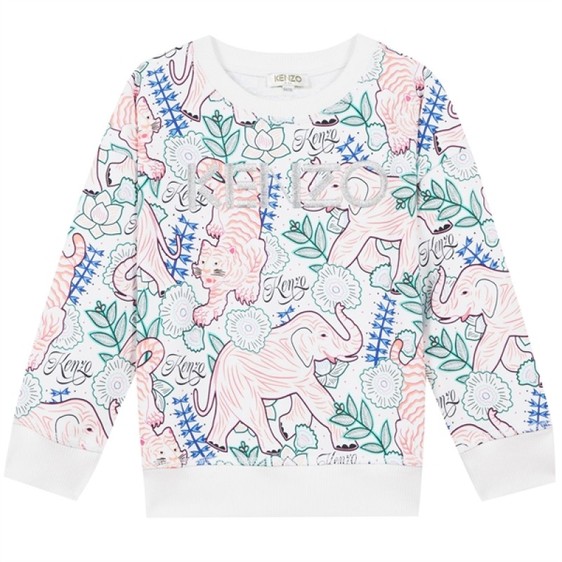 Kenzo Disco Jungle Optic Sweatshirt - White