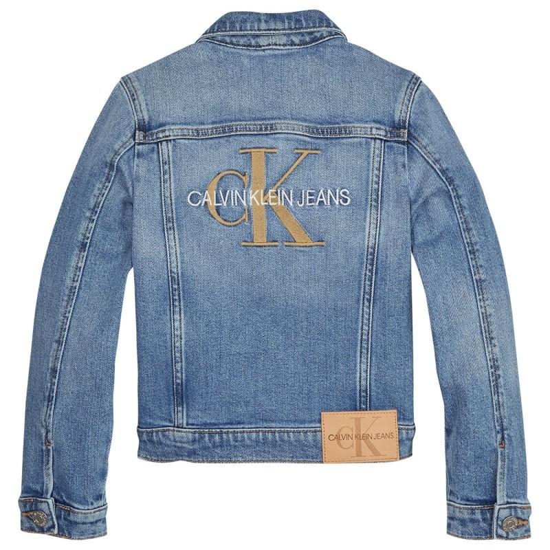 Calvin Klein girls trucker monogram jakke