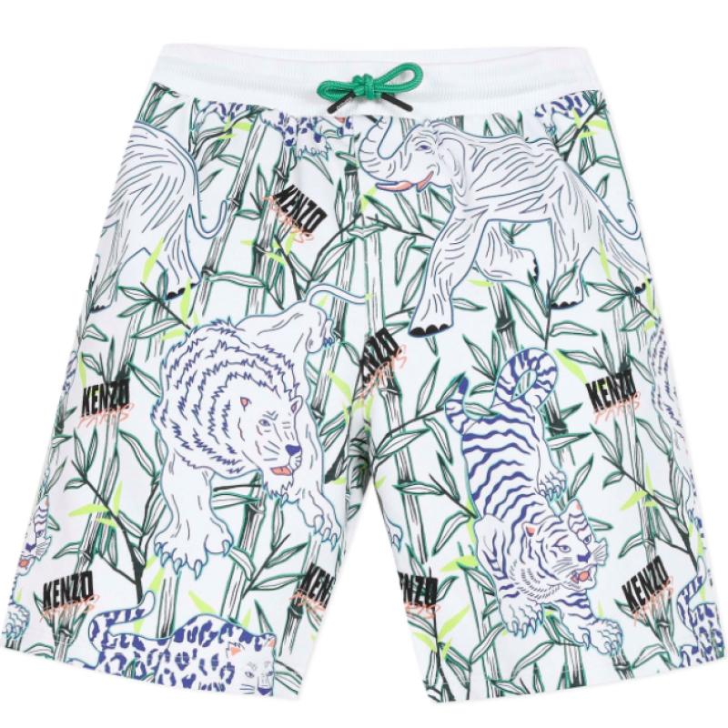 Kenzo Optic White Disco Jungle Shorts