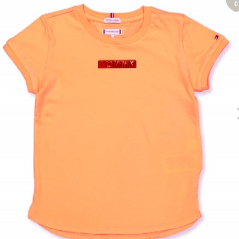 Tommy Hilfiger Matllic logo Melon Orange