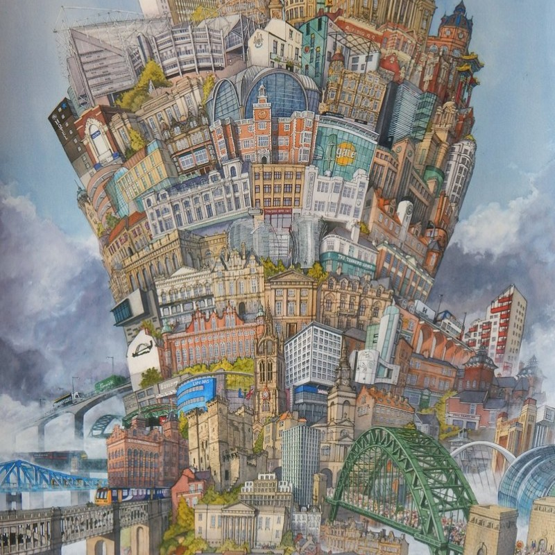 Matthew Ellwood Tower of Newcastle A2 Print