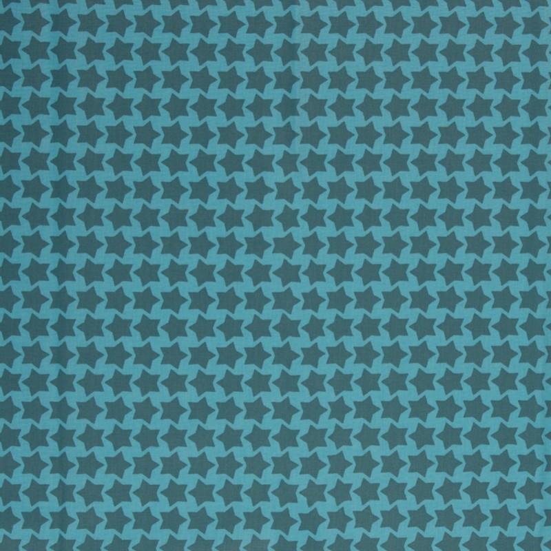 Beschichtete Baumwolle Staaars  türkis/petrol, Einheit 0,5m
