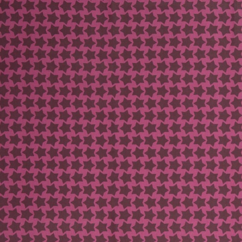 Beschichtete Baumwolle Staaars beere/bordeaux, Einheit 0,5m