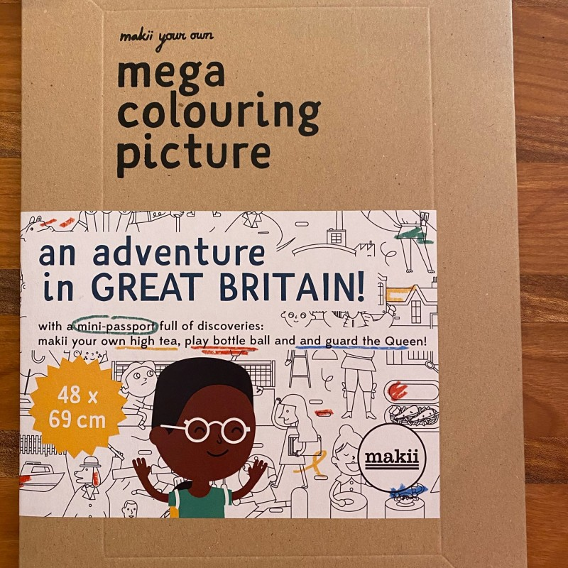 Makii-mega colouring picture-Great Britain