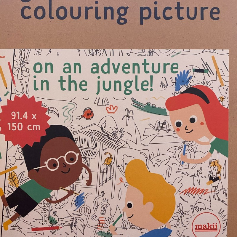 Makii - giant colouring picture- in the jungle