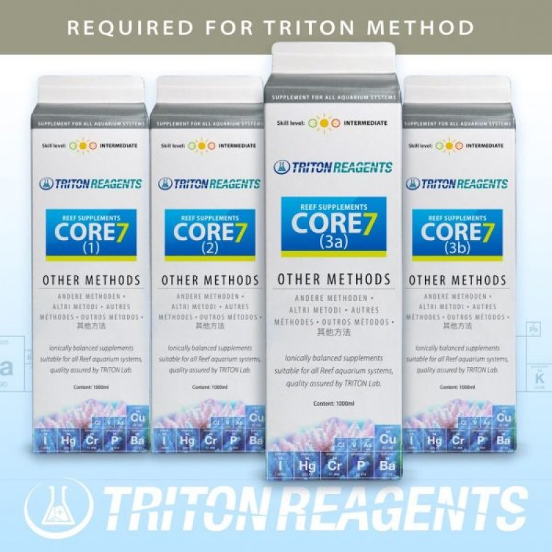 Triton Core 7 Reef Elements Methods (4 x 1 Litre Containers)