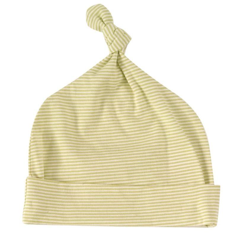 pigeon knotted hat-fine stripe-beechnut