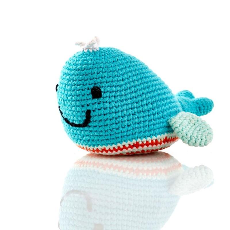pebble- whale rattle