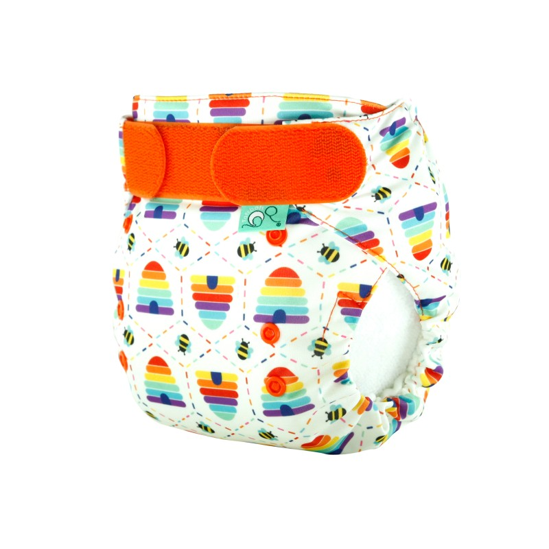 Tot Bots-NAPPY EASYFIT STAR PRINT- BEE KIND-one size