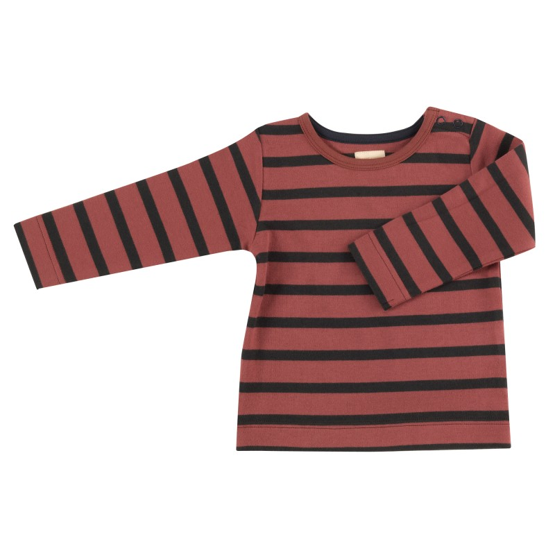 Pigeon - T-shirt (Breton stripe), spice/black,
