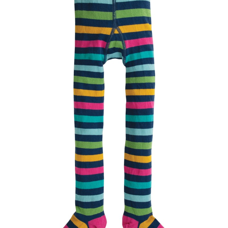 Frugi - Norah Tights, Bright Multistripe, 2-4yrs