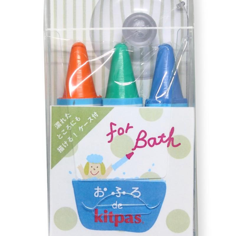 Kitpas - bath crayons - 3 pack Orange Green & Blue