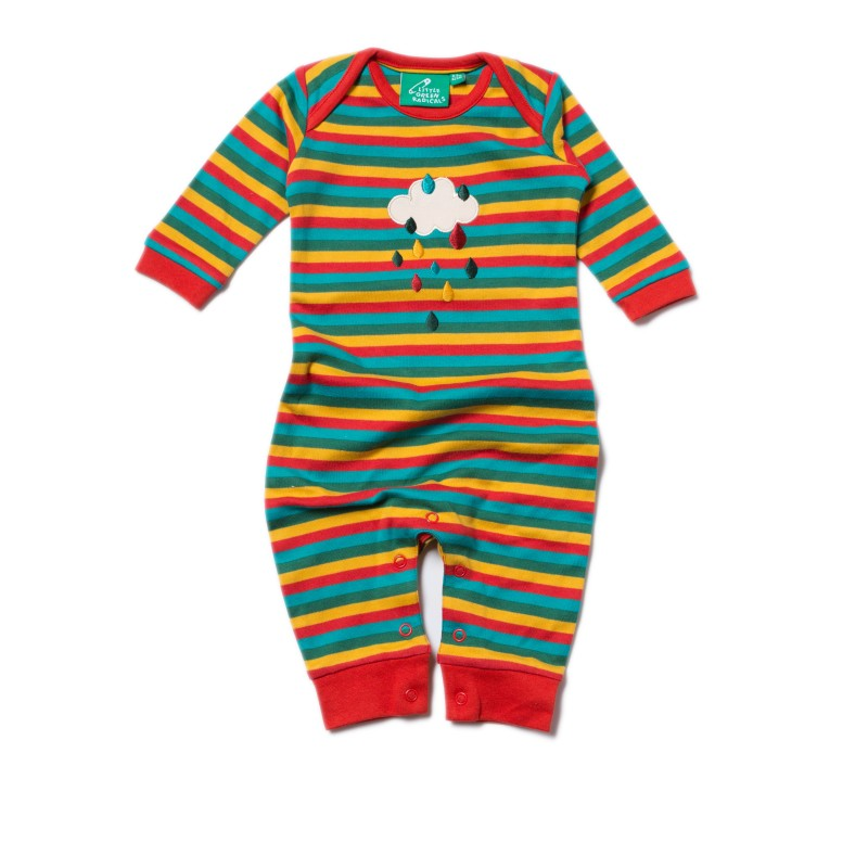 LGR - Falling water applique playsuit 6-9 months