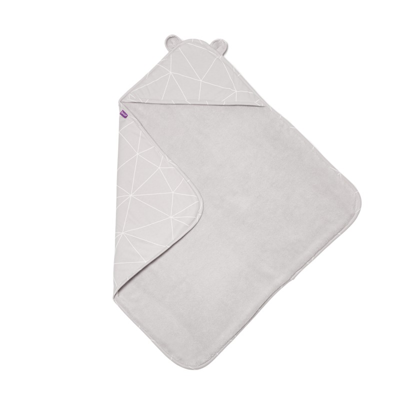 Snuz Baby Hooded Towel - Geo Mono