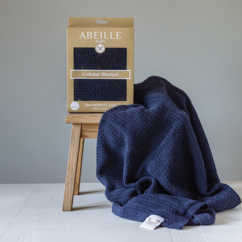 Abeille Cellular Blanket - Gypsy (Navy)