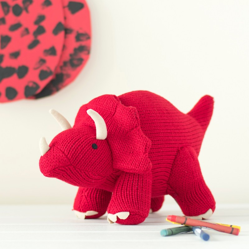 Best years-Knitted large Triceratops