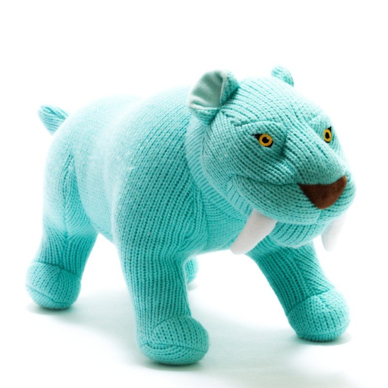 Best Years - Knitted sabre tooth tiger larger toy