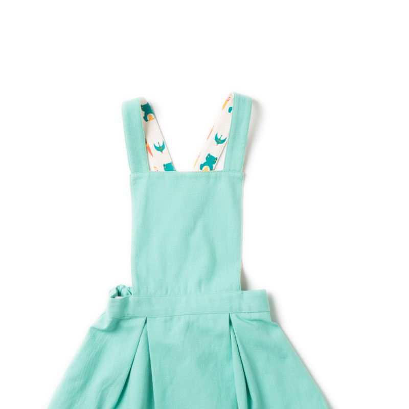 LGR pale turquoise pinafore dress