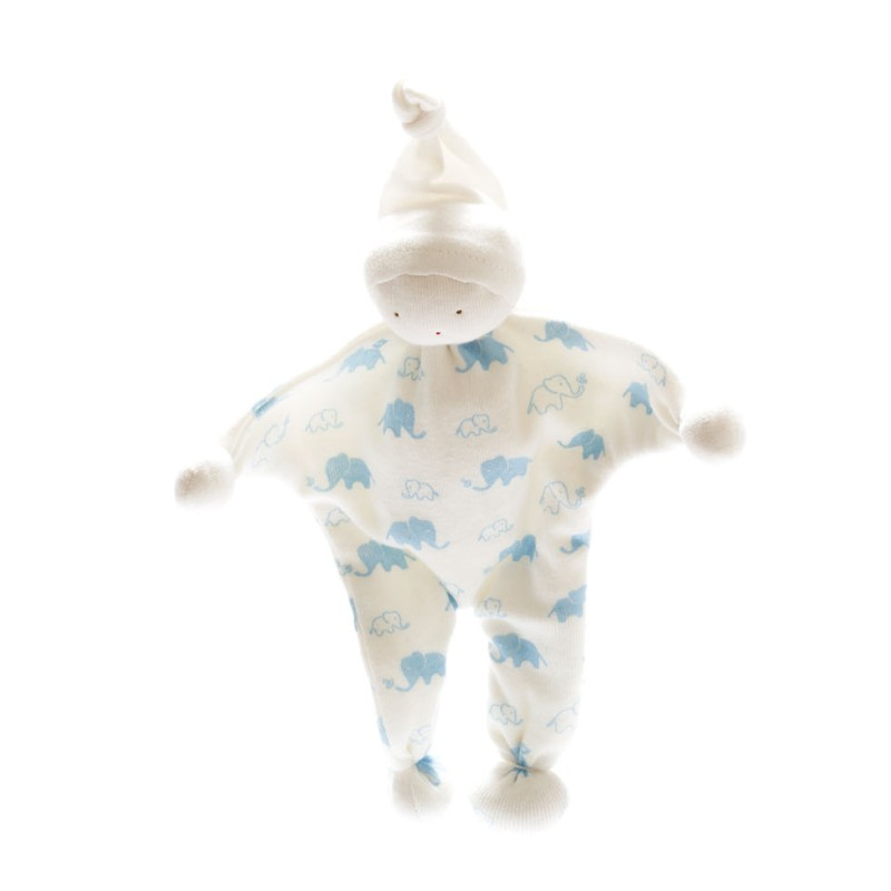 Under the Nile - Organic baby buddy- Elephants Blue